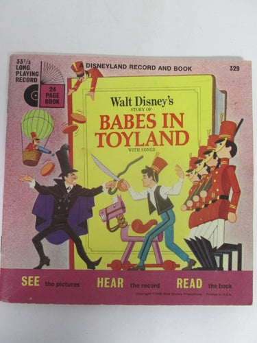 Babes In Toyland A Disneyland Book and Record #329 33 1/3 RPM (1968)