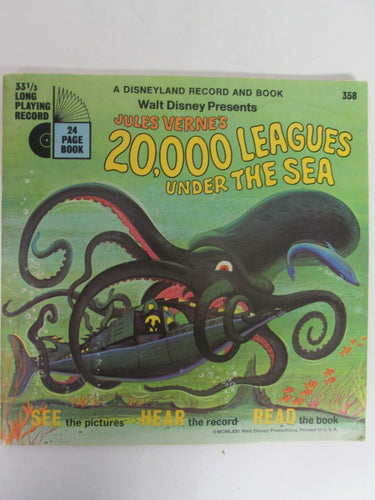 20,000 Leagues Under The Sea A Disneyland Book and Record #358 33 1/3 RPM (1971)
