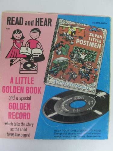 Seven Little Postmen A Little Golden Book and Record #214 45 RPM (1952)