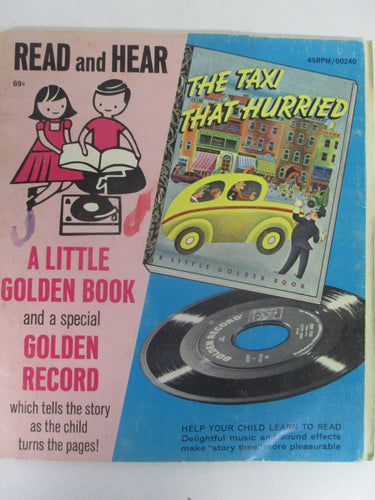 The Taxi That Hurried A Little Golden Book and Record #240 45 RPM (1946)