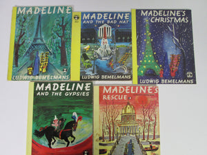 Madeline Set of 5 Books By Ludwig Bemelmans PB