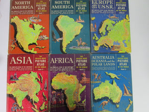 The Golden Book Picture Atlas of the World Set 1-6 1960