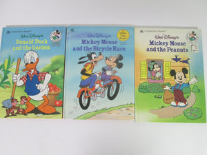 Walt Disney's Golden Easy Reader Set of 3 Books 1988 HC