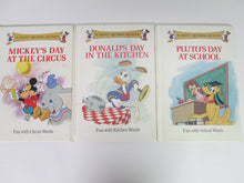 A Disney Rhyming Reader Set of 3 books 1988 HC