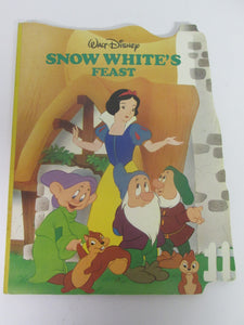Walt Disney Large Heavy Cardboard Books: Snow White's Feast & Lady and Tramp At the Zoo 1988 HC