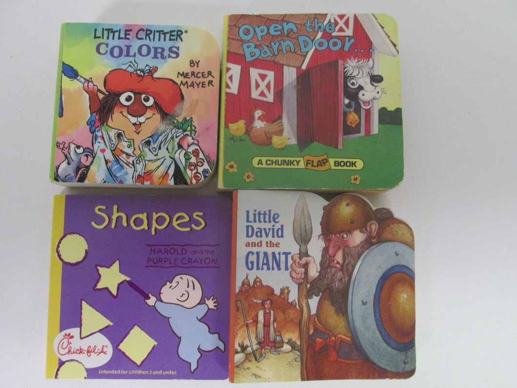 4 Children's Small Thick Cardboard Books HC