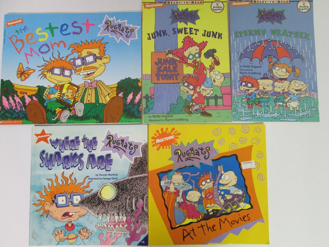 5 Rugrats  Books all different sizes PB