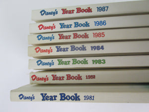 Disney Year Books 7 books 1981-1987 HC