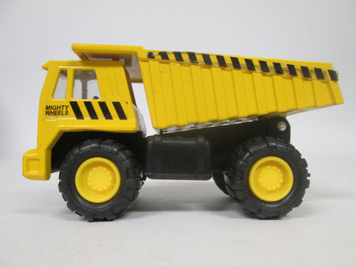 Mighty Wheels Soma Yellow 1998 Die Cast Metal dump Truck