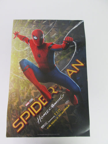 Spiderman Home Coming Movie Poster 11x17