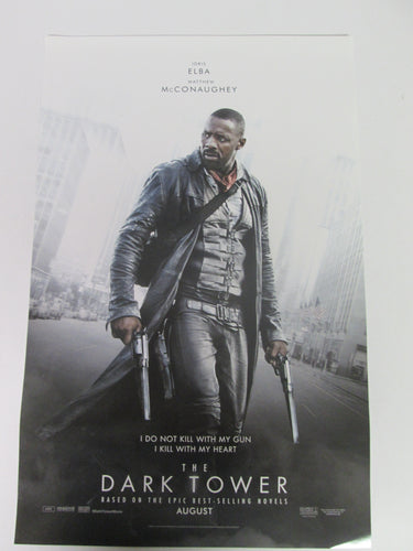 Dark Tower Movie Posters 1 Idris Elba & 1 Matthew McConaughy Set 11x17