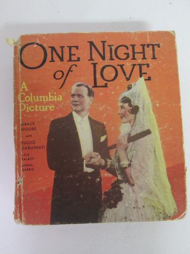 One Night of Love 1935 Big Little Book by Charles Beahan Dorothy Speare HC
