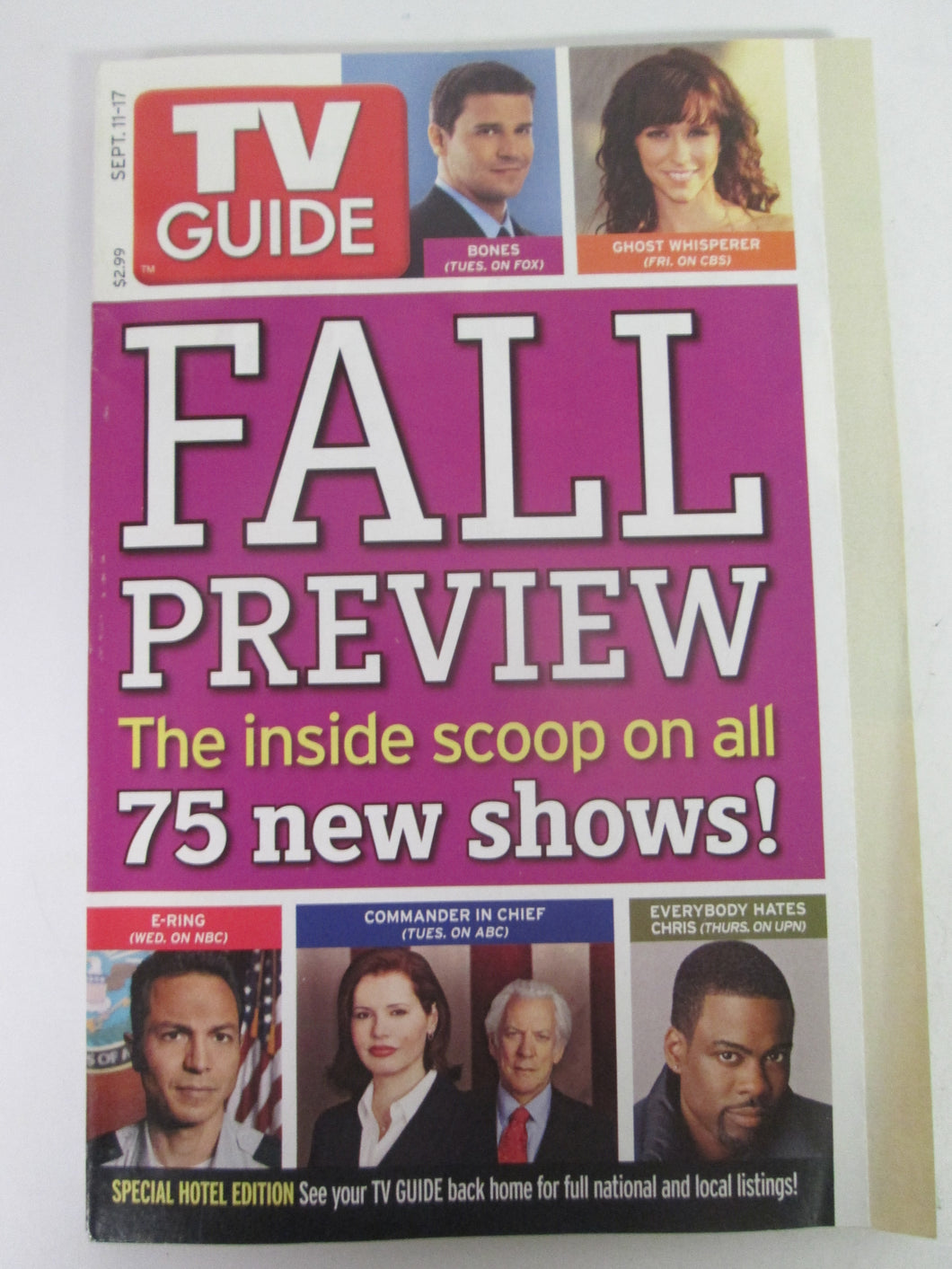 TV Guide Fall Preview Sept 11-17 2005