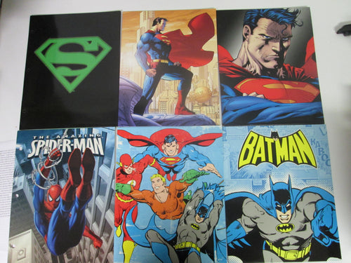 8 School Super-hero folders - Superman, Spider-Man, Batman & Justice League