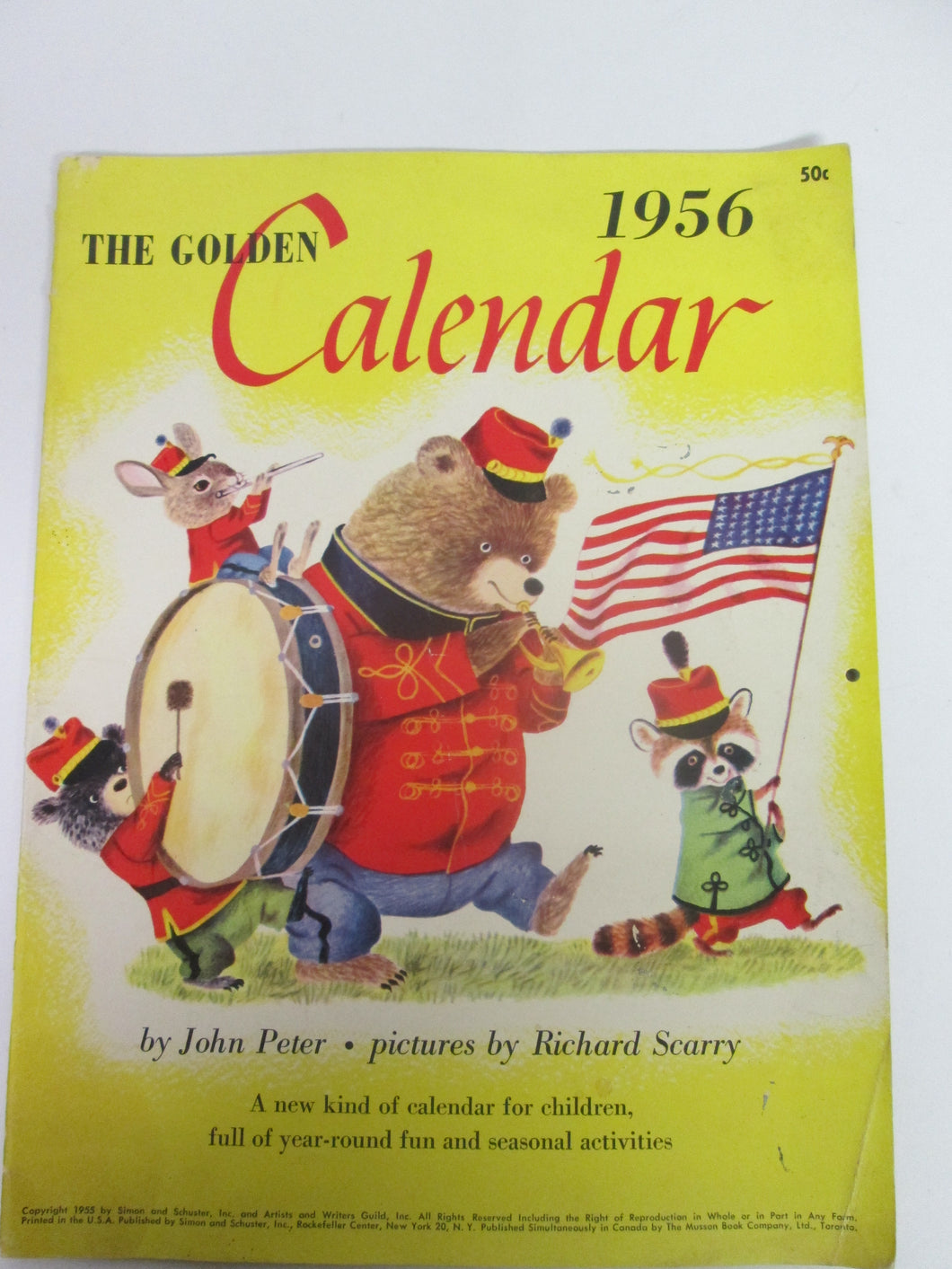 The Golden Calendar by John Peter, pictures by Richard Scarry 1956
