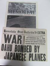 Pearl Harbor and the USS Arizona Memorial: A Pictorial History SIGNED by author Richard Wisniewski w/ 2 newspaper replicas