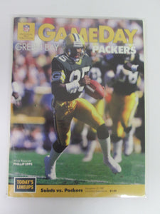Game Day New Orleans Saints vs Green Bay Packers Phillip Epps Cover December 27, 1987