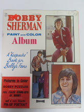 Bobby Sherman Paint & Color Album Book 1971 UNUSED Crafts Puzzles Pin-Up
