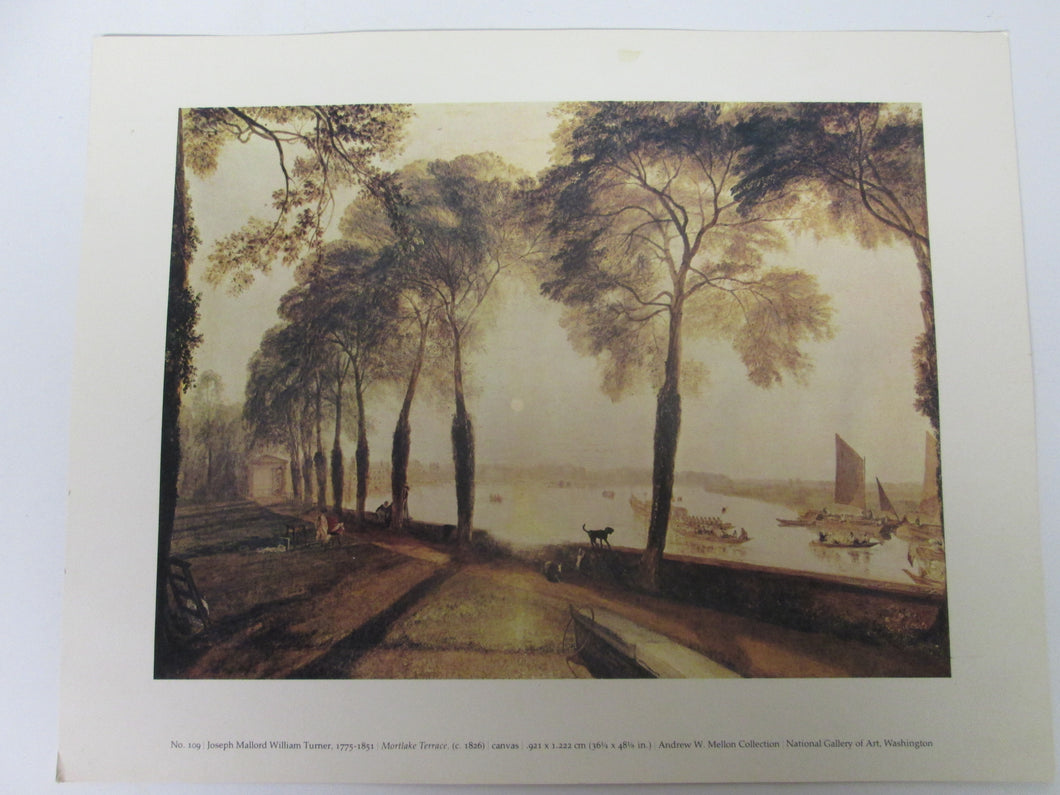 Mortlake Terrace by Joseph Mallord Turner Giclee Fine Art Print Repro