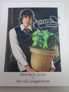 Matthew Lewis as Neville Longbottom Autographed Picture Harry Potter 8x10