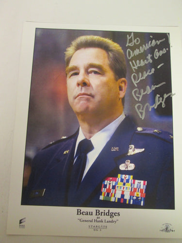 Beau Bridges as General Landry Autographed Picture Stargate SG-1 8X10