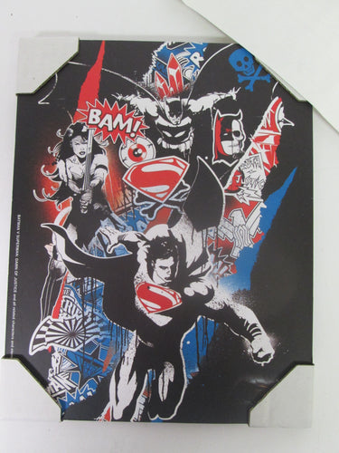 Batman V Superman Dawn of Justice Plaque Art Print