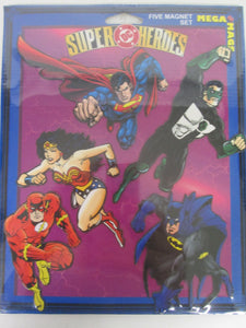 DC Super Heroes Five Magnet Set Mega Mags Sealed