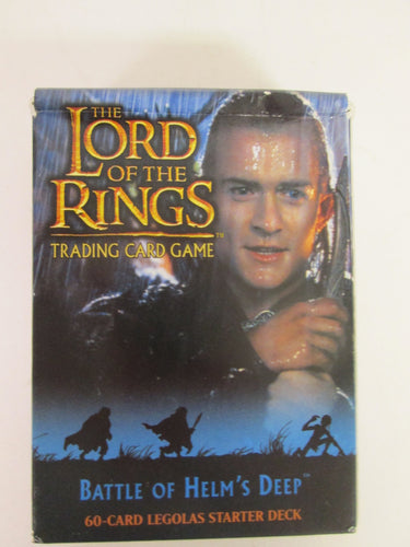Lord of the Rings Trading Card Game Battle of Helm's Deep 60 Card Legolas Starter Deck 2003