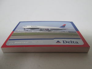 Delta Boeing 767-300 Fun Fact Cards still bound so multiple copies of the same card meant as give-aways