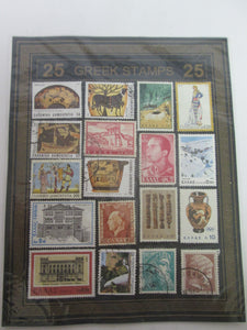 25 Greek Stamps