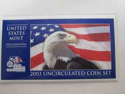 2003 Uncirculated Coin Set Philadelphia with Certificate of Authenticity