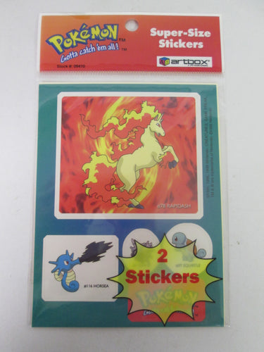 Pokemon Super-Size Stickers 1999 Sealed