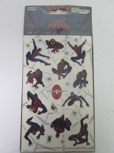 Spider-Man Stickers 2 Sheets 2002