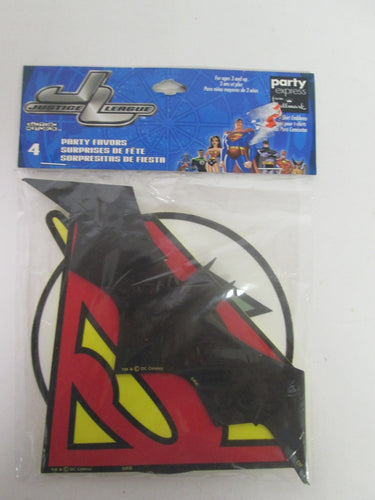 Justice League Party Favors pack of 4