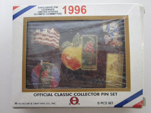 1996 Official Atlanta Olympic Classic Collector Pin Set 5 Pcs