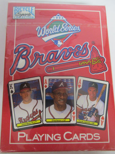 1992 World Series Atlanta Braves Playing Cards sealed