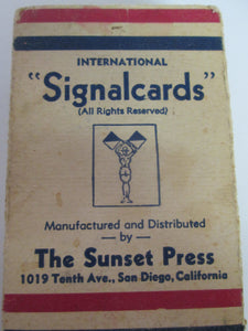 International Signal Cards Flash cards standard card deck size WWII Navy
