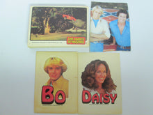 Dukes of Hazzard 1981 27 random cards, some duplicates, includes I Bo Sticker and 1 Daisy Sticker