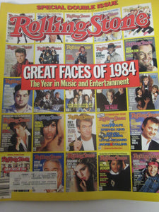 Rolling Stone Magazine December 20 1984 #437/438 Great Faces of 1984 Rolling Stone Issue Cover