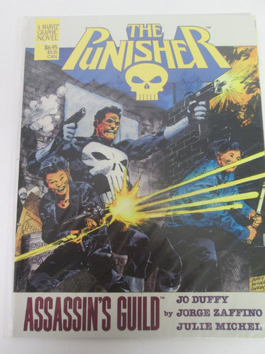 Punisher Assassin's Guild Marvel Graphic Novel by Jo Duffy, Jorge Zaffino & Julie Michel PB