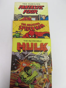 Les Editions Heritage Set of 3 Marvel Reprints in color - Incredible Hulk, Amazing Spider-Man & Fantastic Four 1978 & 1979 PB