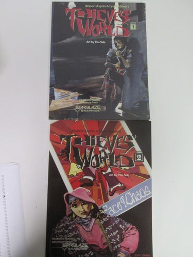 Thieves' World Set #1 & 2 Starblaze Graphic Novel by Robert Asprin & Lynn Abbey 1985 & 1986 PB