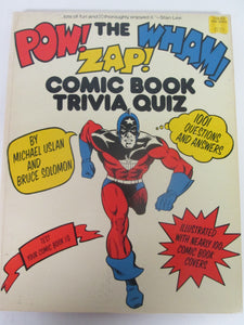 The Pow Wham Zap Comic Book Trivia Quiz Book 1001 Questions & Answers 1977 PB