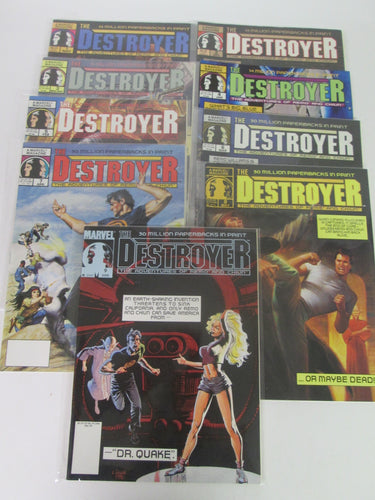 The Destroyer Marvel Comic Magazine The Adventures of Remo and Chiun Set #1-9