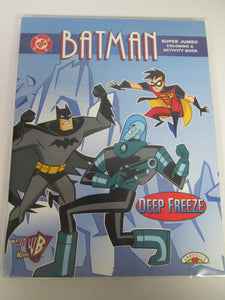 Batman Super Jumbo Coloring & Activity Book Deep Freeze 1998 PB
