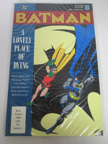Batman A Lonely Place of Dying GN by Wolfman, Perez, Aparom Grummett, DeCarlo & McLeod 1990 PB