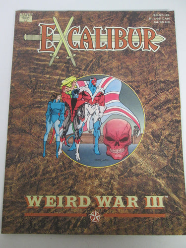 Excalibur Weird War III Marvel Graphic Novel 1990 PB
