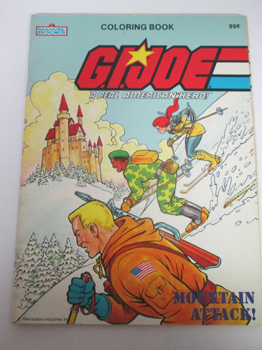 G.I. Joe A Real American Hero Coloring Book Mountain Attack 1984 PB