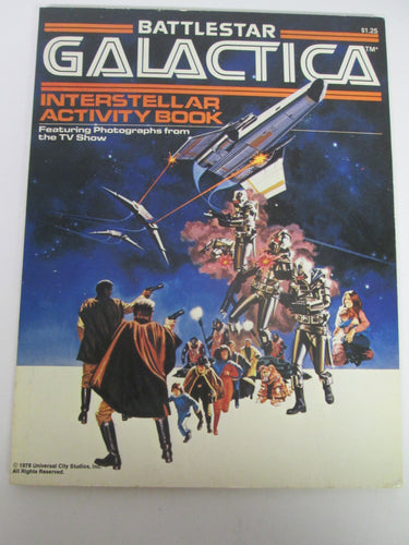 Battlestar Galactica Interstellar Activity Book 1978 PB