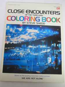 Close Encounters of the Third Kind Coloring Book by Steve Shedd 1978 PB